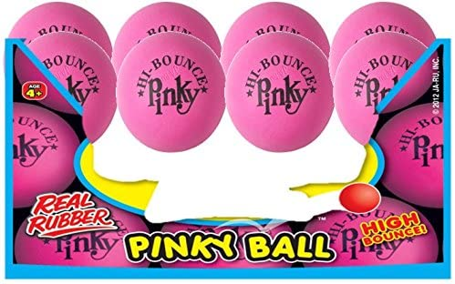 Pink Ball (Pack of 8) 2.55 Inches Original Pinky Balls by JA-RU for Therapy or for Playing Hi-Bounce and JA-RU Ball. #976-8A