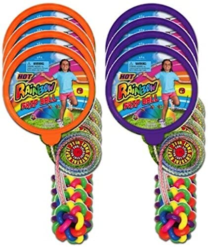 JA-RU Rainbow Skip Ball (Party Favor Bundle Pack of 8)