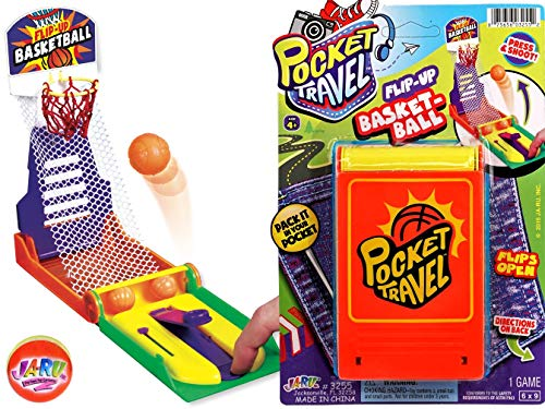 JA-RU Basketball Pocket Travel Game and 1 Bouncy Ball Item #3255-1slp