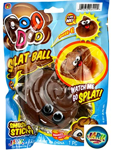 JA-RU Splat Poo Ball Sticky & Stretchy (Pack of 144) Poo .6429- (Pack of 144)