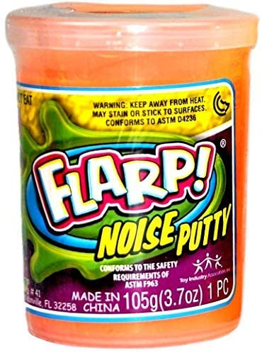 JA-RU Flarp Noise Putty Scented (1 Unit Assorted) Squishy Sensory Toys for Easter, ADHD Autism Stress Toy, Great Party Favors Fidget for Kids and Adults Boys & Girls. Plus 1 Bouncy Ball 1-10041-1p