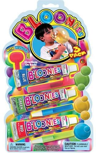 B'loonies Plastic Balloon Variety Large (3 Large Tubes) Great Original Bloonies Bubble Making. 770-1B