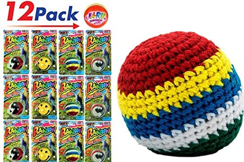 Hackey Sack Ball (Pack of 12) by 2Chill | Hacky Foot Sack Kick HotSacks Sand Filled | Item 734-12