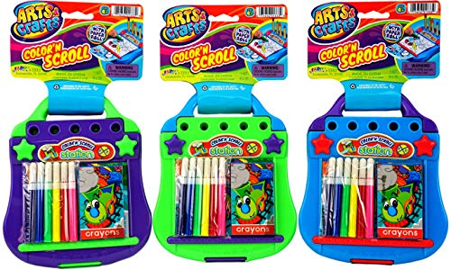 Airplane Games (6Pack) Kids Travel Toys Mess Free Coloring Drawing Pad Board Tablet for Art & Crafts Creativity Paint Kit and 1 Bouncy Ball 1333-6