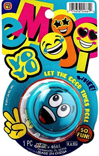 Emoji Yo-Yos Variety Party Pack (6 Units) by JA-RU. Emoji Faces Yoyos for Kids Boys and Girls. Stocking Stuffers , Gifts, Party Favors in Bulk Party Supplies. Yo Yos. Plus 1 Bouncy Ball. 4661-12p