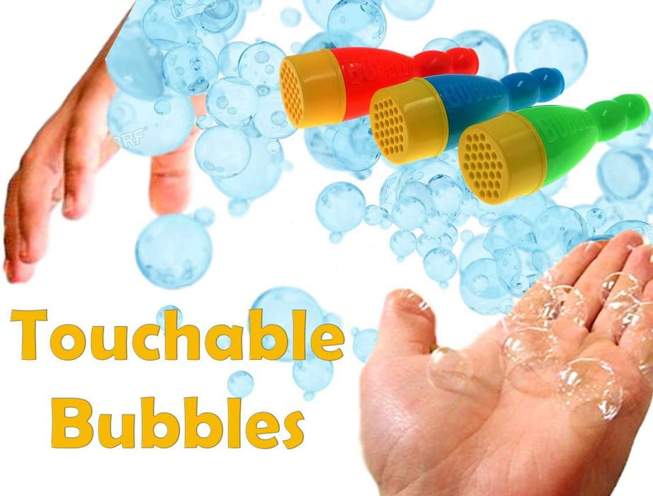 JA-RU Grab a Bubble Storm Touchable Bubbles Blowing Toy (24 Pack) I Hundred of Touching Bubbles Soap Solution Toy Favors I Party Favor Pinata Filler in Bulk 1508-24p
