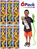 2GoodShop Magic Grow Snake Mega (Pack of 6) and 1 Collectable Bouncy Ball by 2Chill | 48 Inches | Item #311-6p