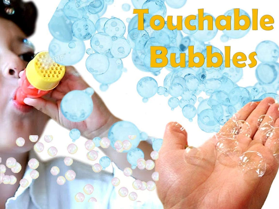 JA-RU Grab a Bubble Storm Touchable Bubbles Blowing Toy (3 Pack) I Hundred of Touching Bubbles Soap Solution Toy Favors I Party Favor Pinata Filler in Bulk 1508-3A