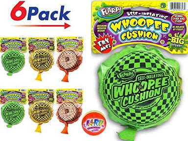 2CHILL Whoopee Cushion Self Inflating Flarp Original ( Pack) JA-RU. Kids and Adult Fart Toy | Prank Self-Inflating. Whoopie Makes Gas Sounds JA-RU | 327-12p