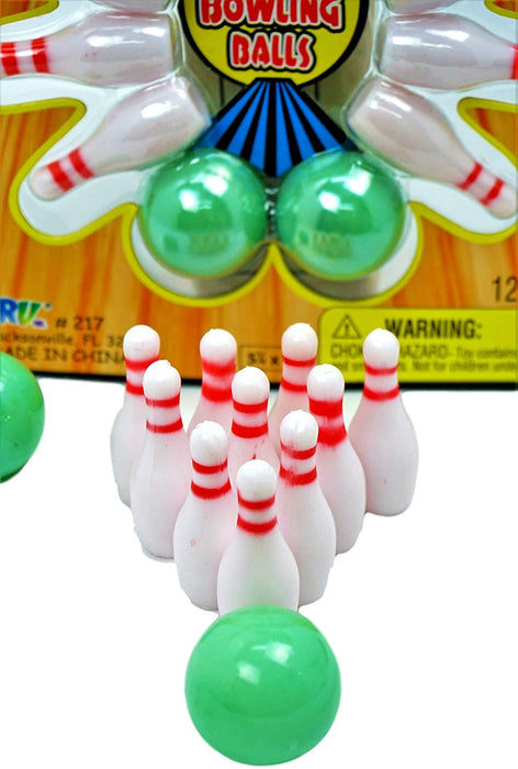 JA-RU Finger Bowling Game Set (Pack of 24) Miniture Sports. Comes with 1 Collectable Bouncy Ball Bowling Table Set for Kids | Item #217-24