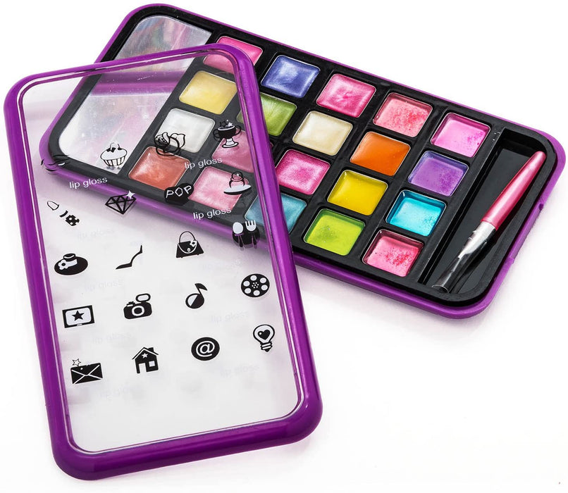 JaRu Makeup Beauty Color with Cellphone Case (Pack of 6) Washable Professional Makeup Favors for Girls Teens | Item #4645-6