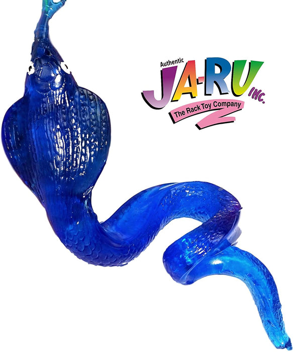 JA-RU Giant Sticky Snake Stretchy Snap Smak Toys (6 Pack) Prank Squishy Sticky Snake Party Favors Birthday Toy Supplies for Kids, Pinata Filler, Bulk Toys, Stocking Stuffers, Goody Bags. 430-6A
