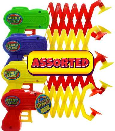 JA-RU Robot Arm Claw Grabber, Grab it Claw Toy (6 Units Assorted) 12 Inches Long. Pick Stick. Grabber Toys for Kids. Great Party Pack Favors Tool Toy. Plus 1 Bouncy Ball Item #5614-6p