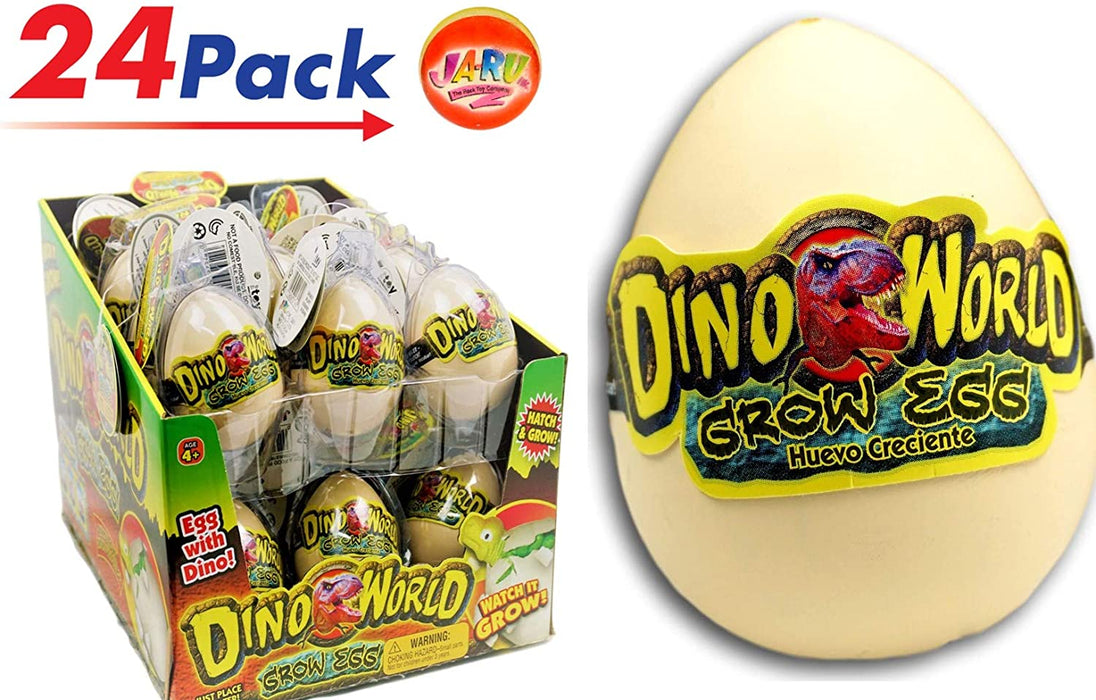 JA-RU Easter Egg Toy Magic Grow Dinosaurs Hatching Eggs Toy 2 Pack (1 XXL and 1 Standard) Easter Party Toy for Boys and Girls Kids Party Favor Toy. #1745-1A