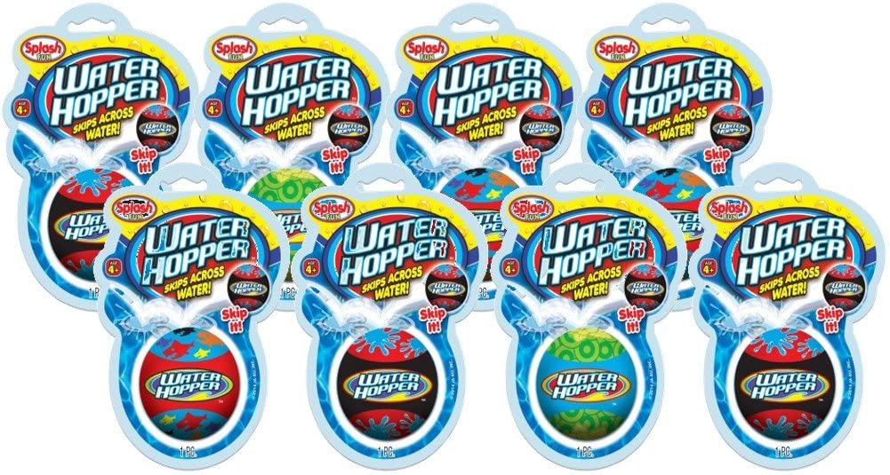 JA-RU Pro Hopper Skip Water Bouncing Ball (1 Pack Assorted) Skip Ball Pool Bounce Balls Toys for Adults and Children. Plus 1 Collectable Bouncy Ball | Item #880-1p