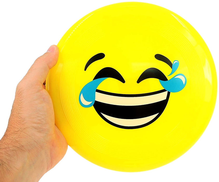 "JA-RU Flying Disc Frisbee Emoji Faces 9"" (Pack of 24 Units Bulk) Great Toy Flyer Emoji Poop Party Supplies Favors, Pinata Filler. Plus Collectable Ball.