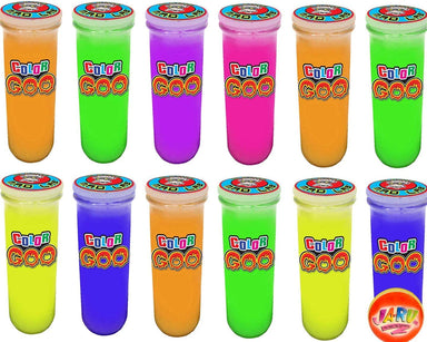 JA-RU Slime Test Tube Sludge (Pack of 12) Dr. Wacko's Mad Lab Goo, Glowing Alien Colors Sensory Educational Toy | Item # 5437-12R