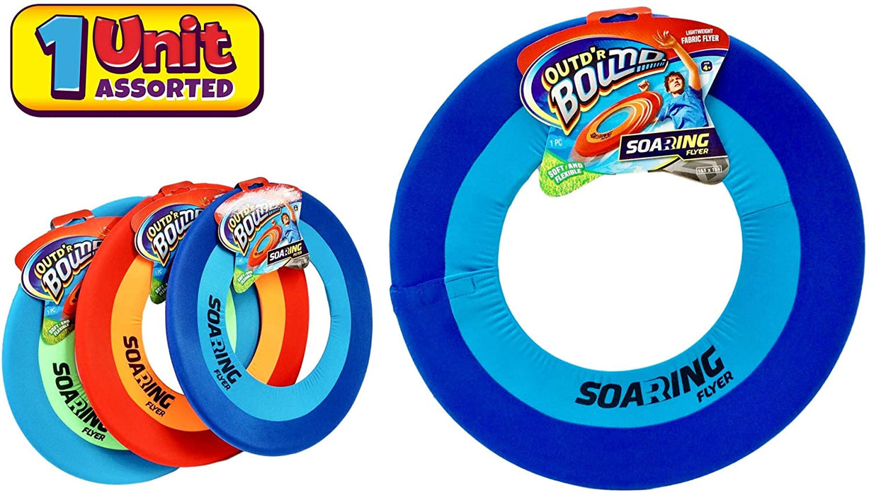 "JA-RU Soft Giant Frisbee Throwing Disc 16"" (1 Unit Assorted) Soaring Flyer Splash Fun Aqua Flyer Lightweight. Flying Discs for Kids & Adult Toys. Safe Easy and Pro 5138-1"