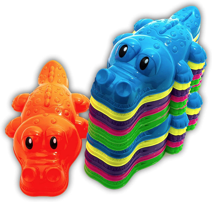 2GoodShop Sand Molds Toy (Pack of 12) | Alligator Shape for Beach and Playgrounds | Item #1283-12