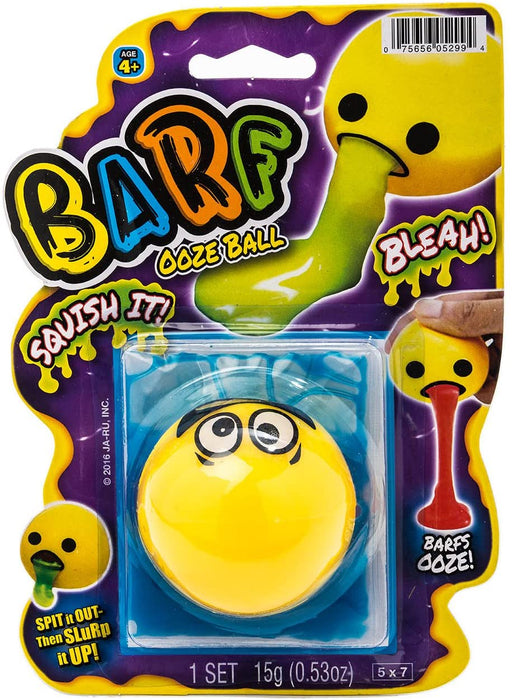 JA-RU Emoji Barf Slime Stress Ball (1 Unit Assorted) Colorful Ooze Party Favors for Kids Stress Relief Toy. Pinata Filler. Plus 1 Bouncy Ball | 5299-1p