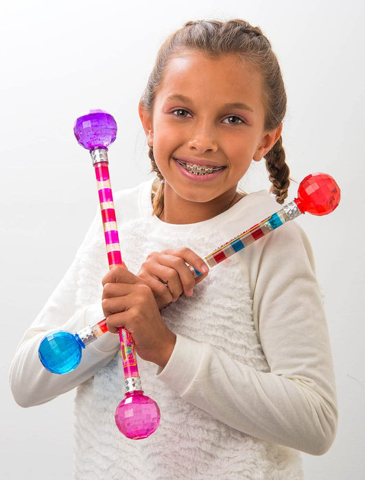 JA-RU Cheerleader Baton Kids Toys Dance Twirling Glitter Baton for Girls Great for Marching Bands Sport Games and Parades Comes in 4 Styles (Pack of 8) | Item #2803-8