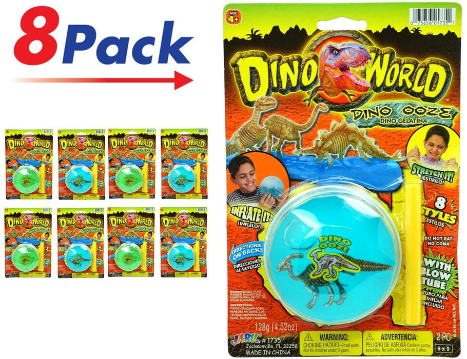 JA-RU Jurassic World Magic Slime Dig The Dinosaur Toy (Pack of 1) Soft Inflatable Novelty New Slime for Kids Party Favor Dinosaur Digging Toy. Item #1735-1p