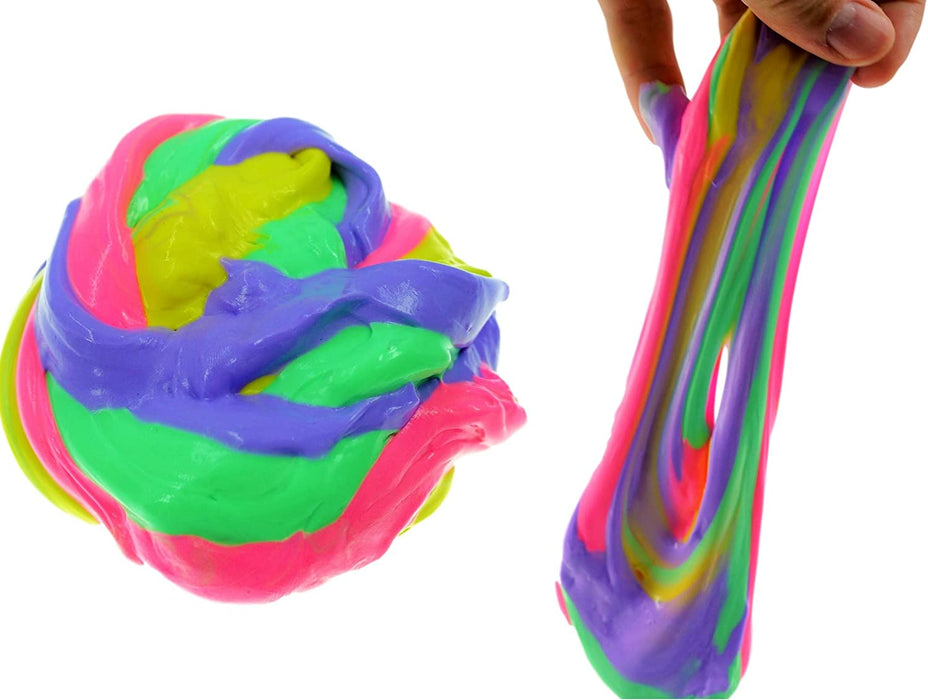 JA-RU Fluffy Slime Mad Lab Puffy Fluff Stuff Dough (Pack of 1) and 1 Bouncy Ball Super Soft and Non-Sticky Stress Relief Toy Bulk| Item #5432-1p
