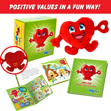 Educational Plush & Learning Board Book (All Collection of 6 Values) Great Gift Set For Kids or Children Boys or Girls. Kids Learning Toy. Toddler Activities, and Kids Therapy Help. By Entyva