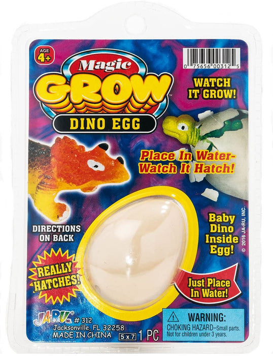MAGIC GROW Easter Egg Toy Dinasour Hatching Eggs Toy (1 Assorted Egg). Easter Party Toy for Boys and Girls Kids Party Favor Toy. Dino Eggs That Hatch. Bath Growing Toy. | Item #312-1A