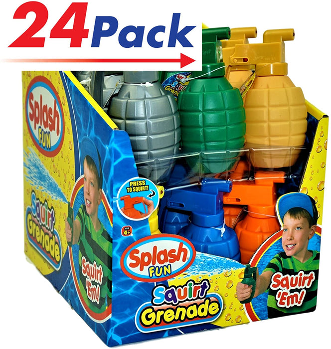JA-RU Water Squirt Grenade (Pack of 24) Kids Toys Super Soaker Water Splash | Item #868-24