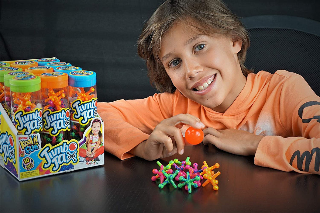 JA-RU Big Jacks Toy Set (Pack of 3 Units) Kids Jax Classic Games Great Party Favors or Pinata Filler in Bulk. 6569-3p