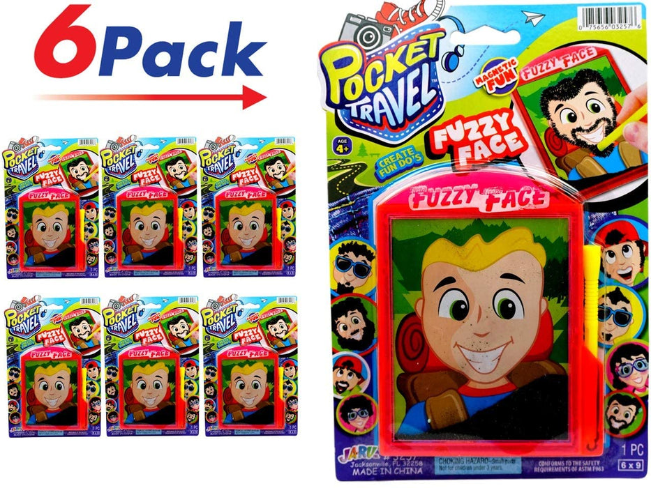 Magnetic Fuzzy Face Portable Pocket Board Games (Pack of 6) by JARU. Assortment of Classic Toys Party Favors Toy| Item #3257-6