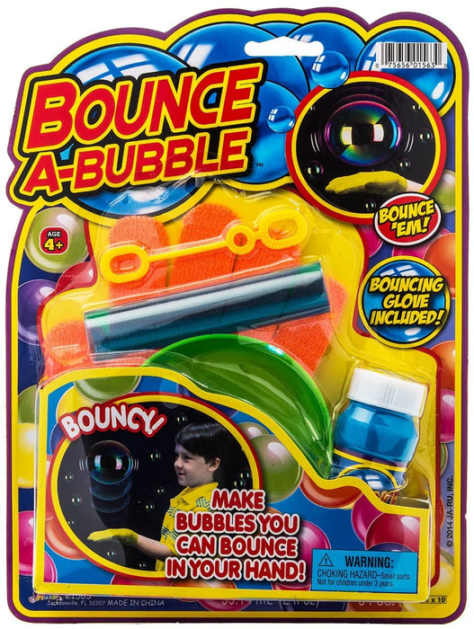 JA-RU Grab a Bubble Bounce Touchable Bubbles Blowing Toy Kit (6 Pack) I Bouncing & Touching Bubbles Soap Solution Toy Favors I Party Favor Pinata Filler in Bulk 1563-6p