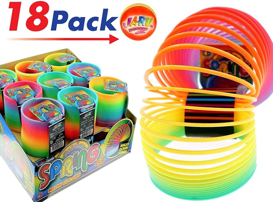 JA-RU Magic Spring Rainbow Ring (3 Units) and 1 Exclusive Ball Slinky Springs | Item #1702-3slp