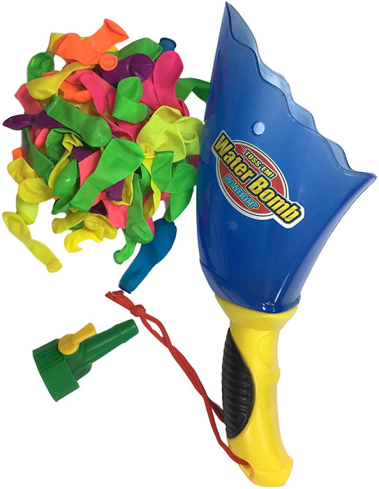 Water Balloon Launcher Slinger Water Toys (Pack of 1) by JA-RU Battle Pool Toys+ 100 Balloons + Easy Filler Outdoor Toy Splash Ball Launcher. | 719-1