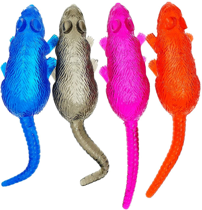 "JA-RU Sticky Rat Stretchy Snap Toys (24 Pack) 9"" Prank Squishy Sticky Toy Rats Party Favors Birthday Toy Supplies for Kids, Pinata Filler, Bulk Toys, Stocking Stuffers, Goody Bags. 053-24p"
