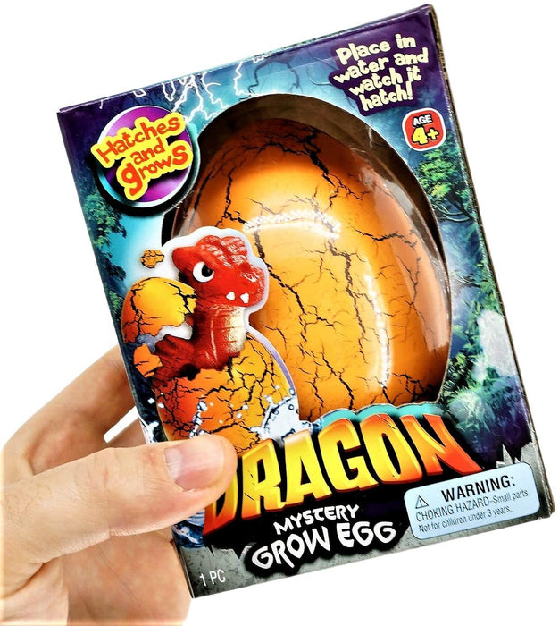 JA-RU Easter Egg Toy XXL Magic Grow Dragon Hatching Eggs Toy (1 Assorted Egg) Easter Party Toy for Boys and Girls Kids Party Favor Toy. | Item #4604-