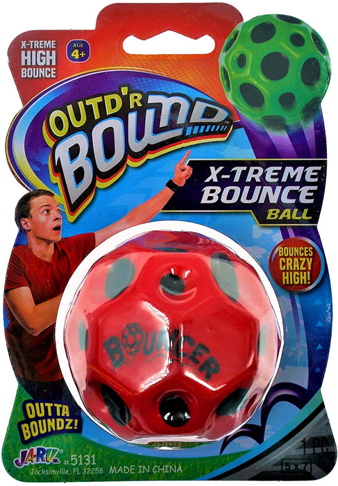 Moon Shaped Space Balls Extreme High Bouncing Ball Toy Game (4 Pack) Moon Sphere and Very Bouncy Ball Sound Slammer. Party Favor. 5131-4p