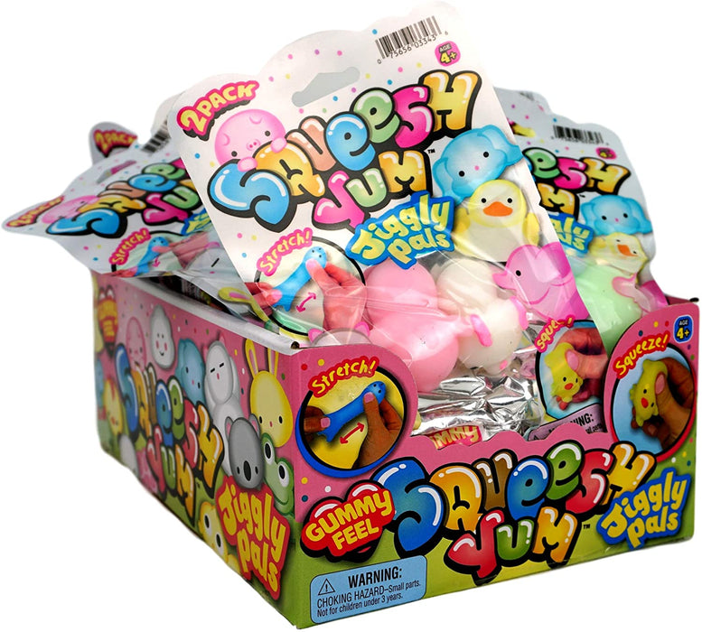 JA-RU Squish Yum Pals Gummy Feel 12 Units (6 Packages) with a Bouncy Ball Soft Delicious Gum Squishy! 3343-6slp