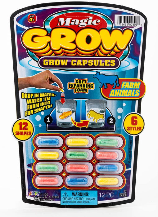 JaRu Magic Grow Capsules (One 6 Various Themes), 12 Count Package