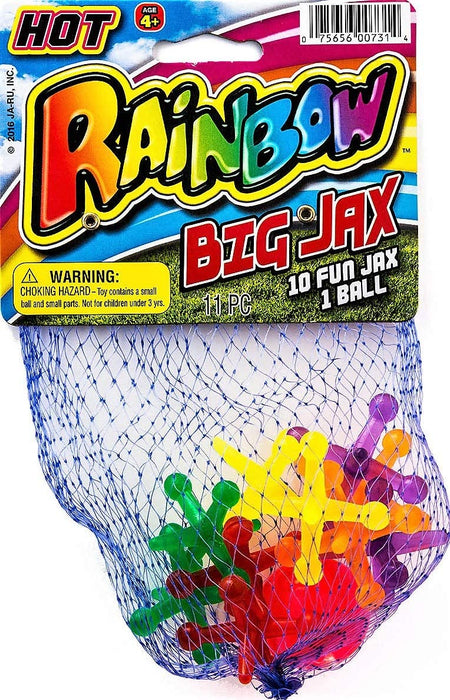 JA-RU Big Jacks Toy Set (Pack of 1 Units) Kids Jax Classic Games Great Party Favors or Pinata Filler in Bulk. 731-1