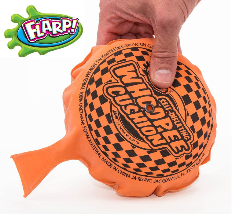 JA-RU Whoopee Cushion Self Inflating Flarp Original (Pack of 6) Kids and Adult Fart Toy | Prank Self-Inflating. Whoopie Makes Gas Sounds Item #327-6p