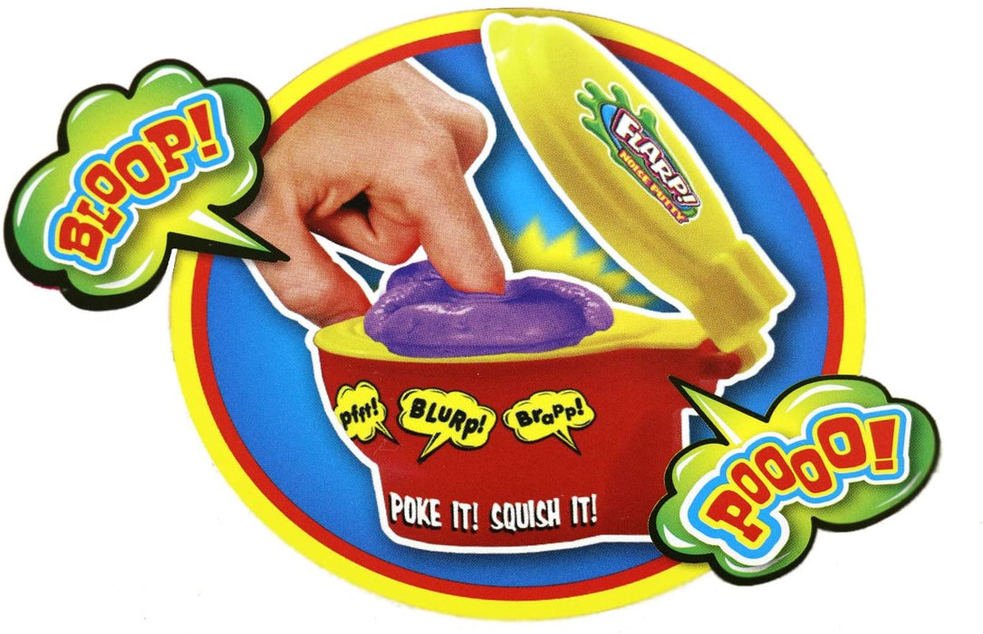 JA-RU Flarp Putty Original with New Toilet Case Squish it to Make Fart Sounds | Item #333-1A