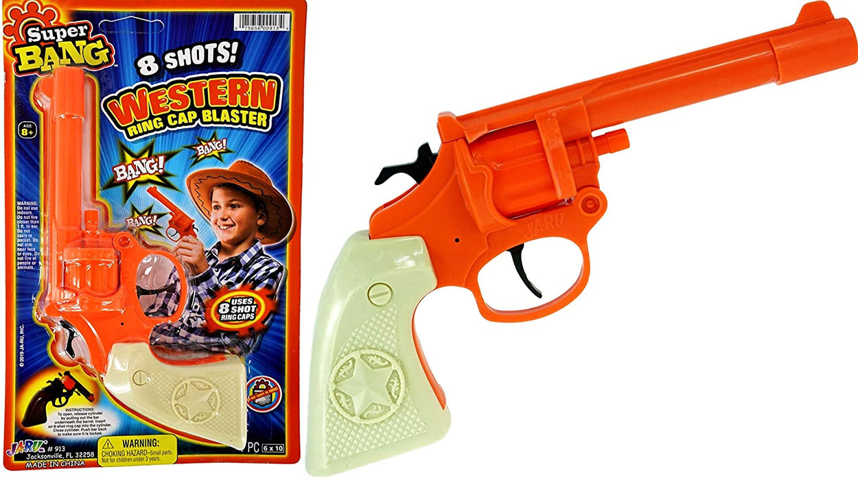 JA-RU Cap Gun Western Wild West Super Bang (1 Unit) Quality Plastic Great Bang Party Favors Supplies for Kids. 913-1A
