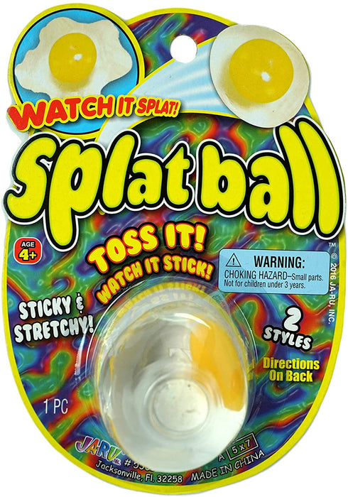 JA-RU Splat Ball Sticky & Stretchy (Pack of 144) Egg & Tomato. 5301-144