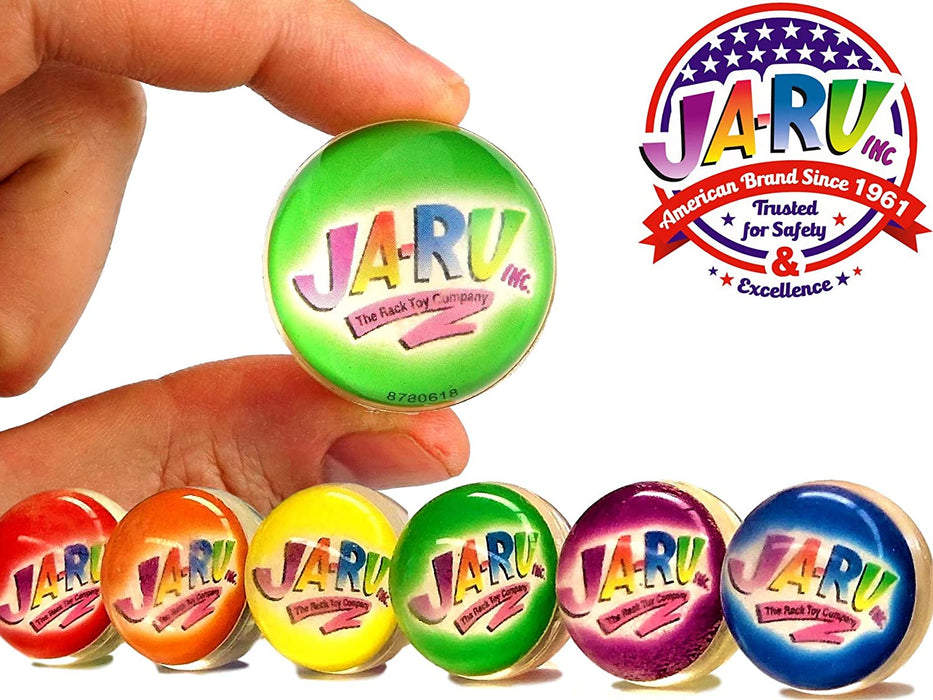 JA-RU Fizzy Bomb Fizz Secret Ball with Surprise Inside, Individually Packed (Pack of 12) and 1 Bouncy Ball from Magic Grow. Pack of 12 | Item #1833-12