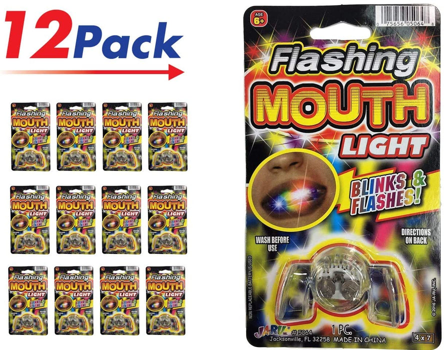 Flashing Mouth Piece (Pack of 1) Light Up Party Favor Mouth Guard Mouthpieces Fun | Item #5064-1A