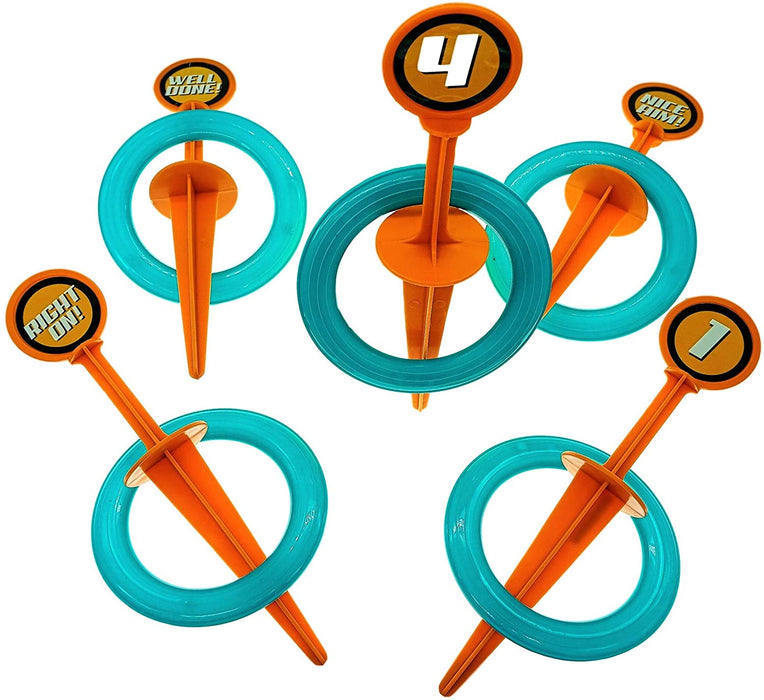 Fun a Ton Ring Toss Games for Kids and Adults Outdoor Toy Set (1 Pack) Hoop and Hooks Great Family Outdoors Game Toy for Kids and Adults. . 1000073-1s