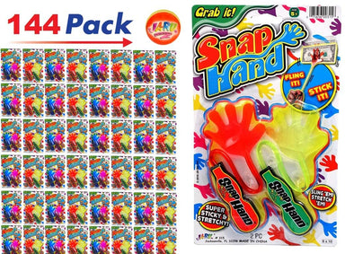 JA-RU New Super Stretchy Sticky Reptiles Snake, Lizard Alligator Snap Hand Like Fidget Fun Twist and Grab Things 429-3A…