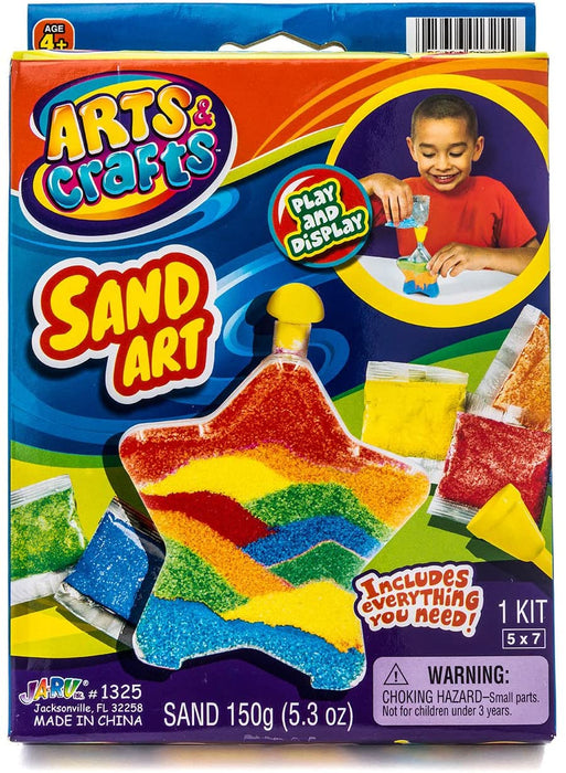 2GoodShop Sand Arts and Crafts (2 Packs Assorted in Hearts and Stars) Create Your Own Sand Arts Bottles. Non-Toxic Colored Sand for Kids' Arts & Crafts. Great Party Favor | Item #1325-2